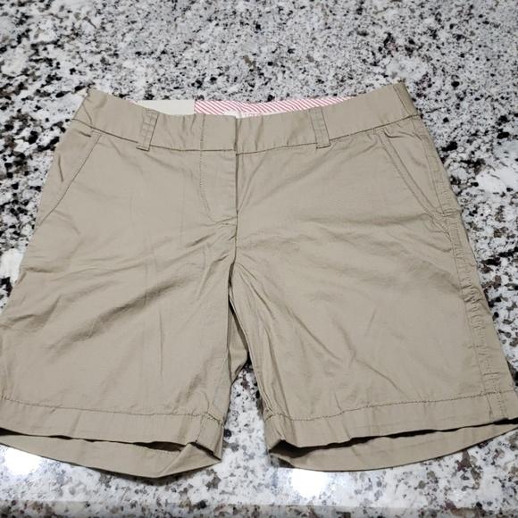 "7/"" Dark Navy Cotton Stretch Chino Shorts J.Crew Women/'s Size 6 NWT"